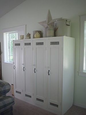 What do with old lockers? I so want lockers and Paint and oh....the ...