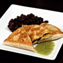 Acorn Squash Quesadillas + Tomatillo Salsa Recipe — Dishmaps