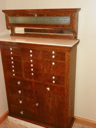 Vintage Dental Cabinet Quilt Studio Pinterest