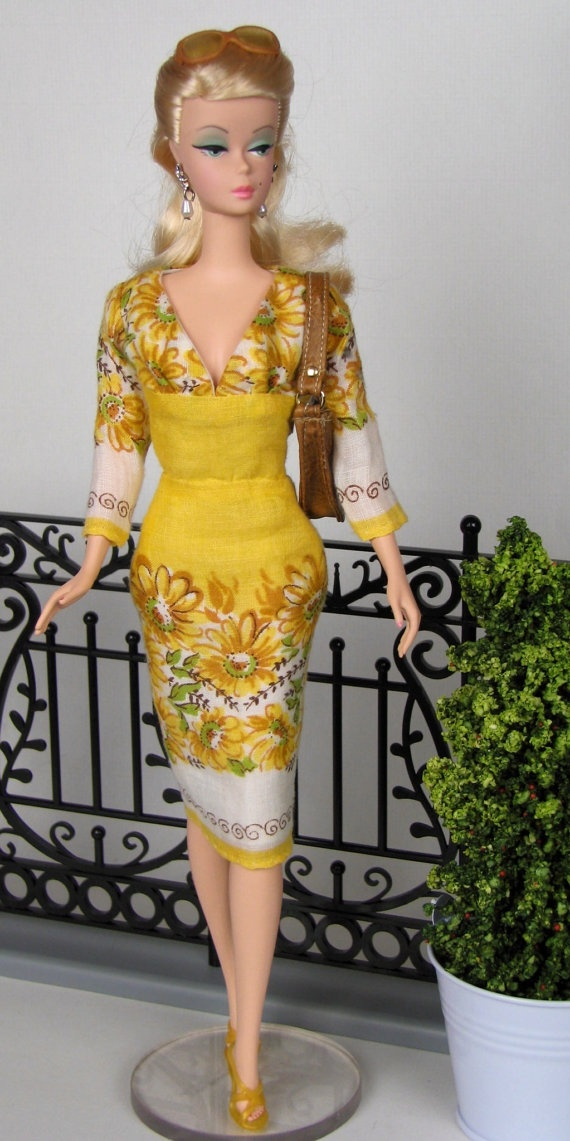 Sunshine yellow dress for silkstone barbie by hankiechic
