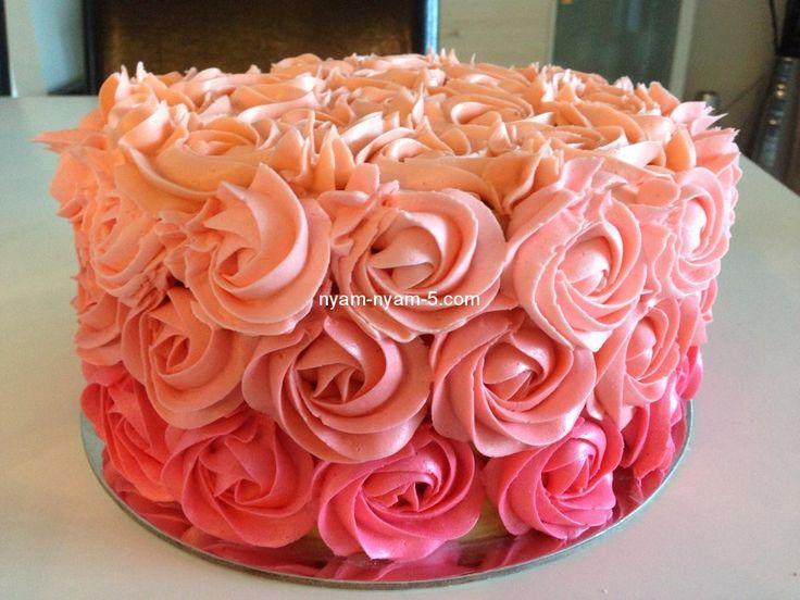 Как сделать розочки на торте в домашних условиях