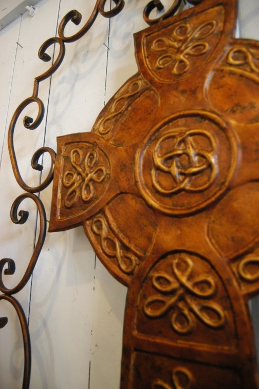Closeup of beautiful Celtic Cross  --