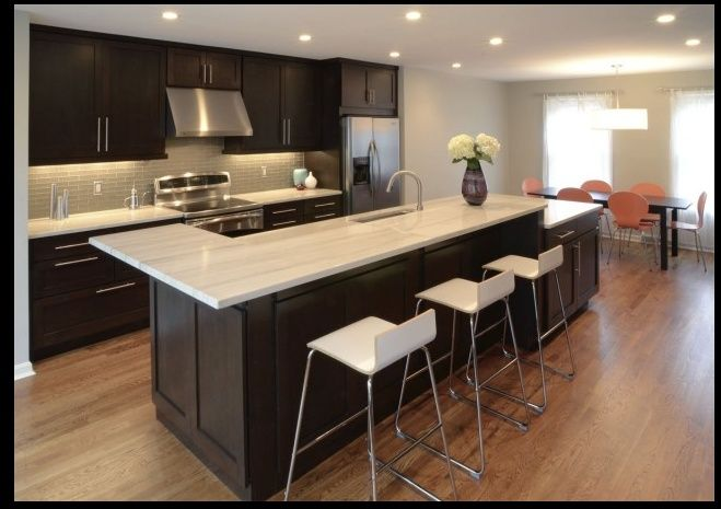 Colors home kitchen pinterest for Cappuccino color kitchen cabinets