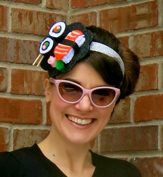 Cassie Stephens: DIY: Sushi on my Head, Sushi on my Feet, Sushi EVERYWHERE
