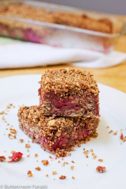 Raspberry Baked Oatmeal Squares with Almond Streusel Topping (GF ...