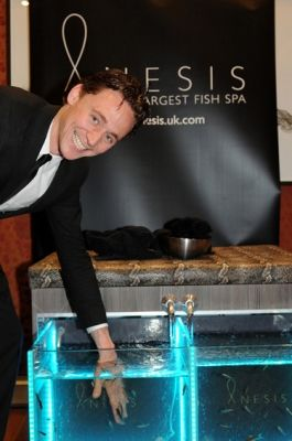 Tom Hiddleston at the Anesis Fish Spa backstage at Jameson Empire Awards, March 27th, 2011
