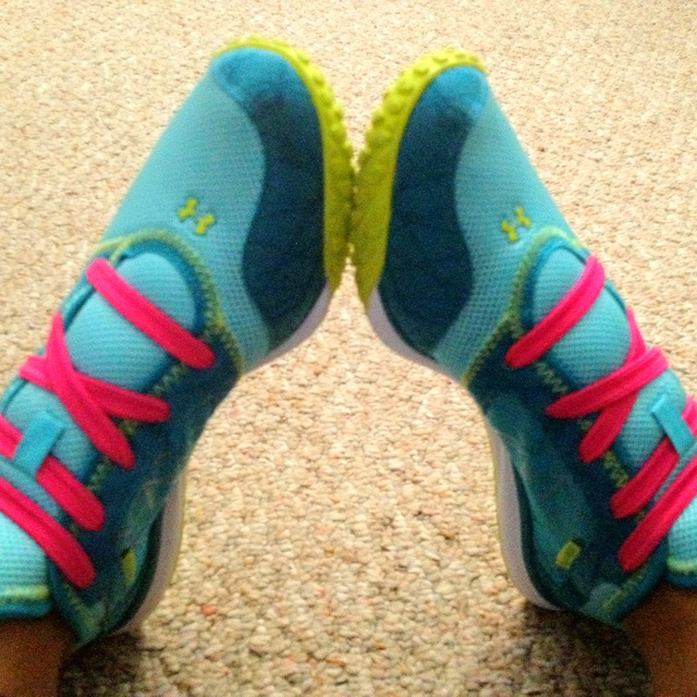 Great running shoes by under armor I = loooove them
