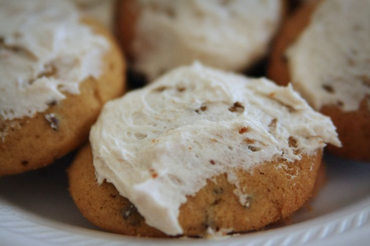 Iced Pumpkin cookies~ | Recipes~Sweets | Pinterest