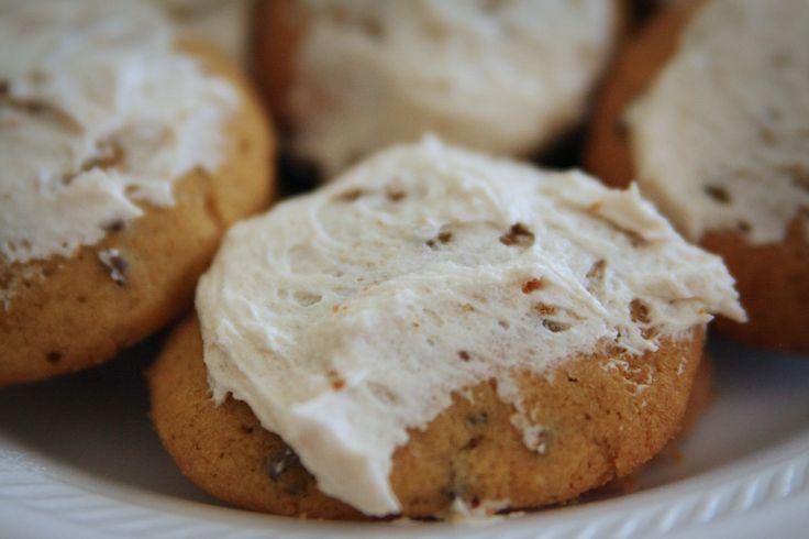 Iced Pumpkin cookies~ | Recipes~Sweets | Pinterest