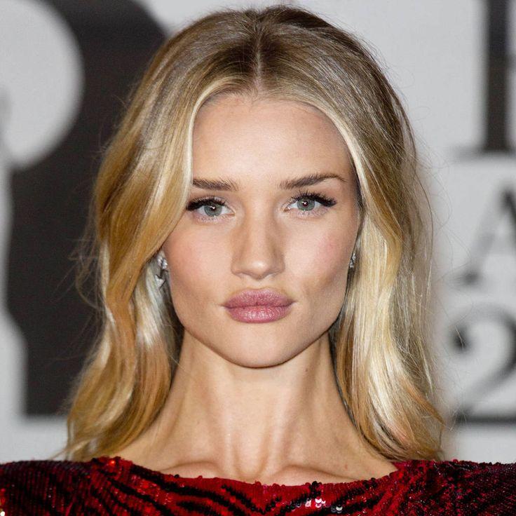 Today's Beauty Secret: An Undone Braid Rosie Huntington Whiteley Lips