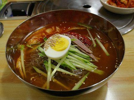 Korean cold noodles | Asian Cuisine | Pinterest