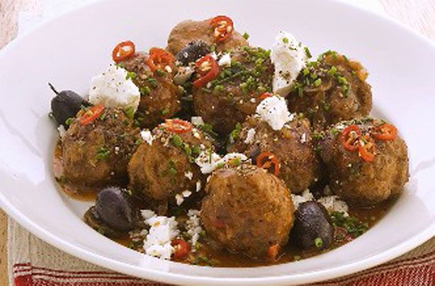 Lamb meatballs with olives and feta recipe - goodtoknow
