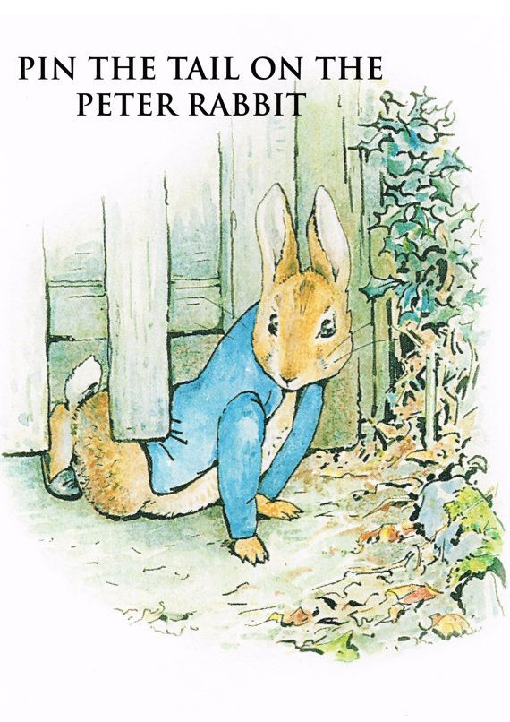 pin the tail peter rabbit game baby shower game beatrix potter birt