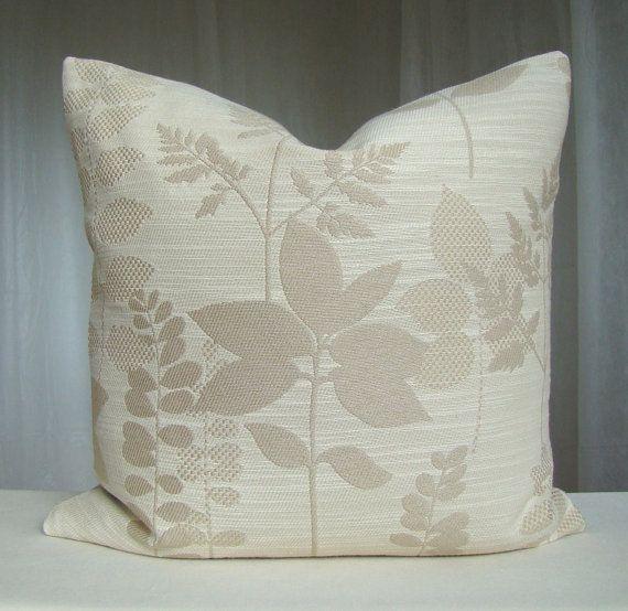 Throw Pillow Covers Cream : Decorative Pillow Cover 18 x 18 Throw Pillow Beige Cream Accent Pillo?