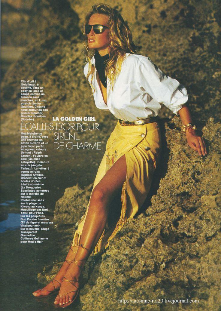 Elle France March 13th, 1989: Estelle Lefebure by Marc Hispard
