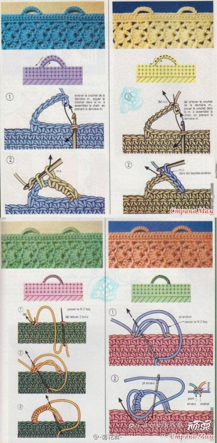 Crochet Stitches With Holes : How to make button holes Crochet Pinterest