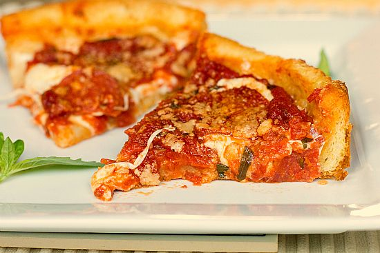 Chicago-Style Deep-Dish Pizza by Brown Eyed Baker