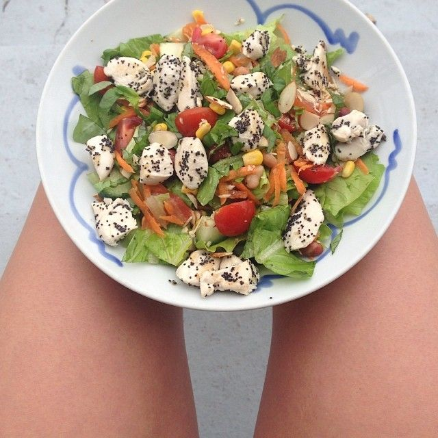 Lunch time salad (lettuce, tomato, green capsicum, cucumber, fresh ...