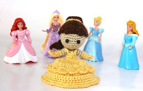 Amigurumi Star Wars Deutsch : Belle Beauty and The Beast Amigurumi Crochet Doll Pattern ...