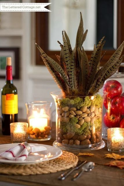 Pinterest Simple thanksgiving table decorations