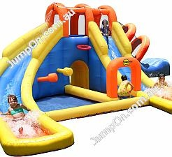 Happy hop blow up inflatable water parks kidlets spoil for Happy hop inflatable water slide
