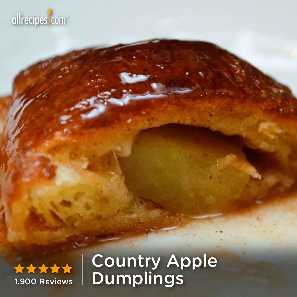 Country Apple Dumplings Recipe — Dishmaps