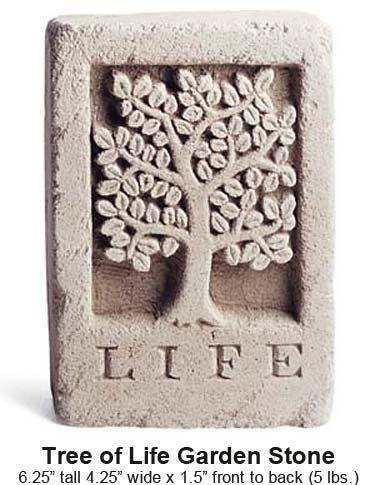 Tree of life garden stone gardening pinterest