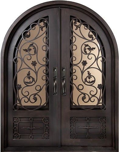 Wrought Iron Double Arch French Doors This Would Make An