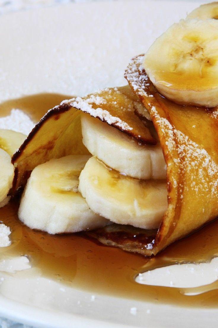 Banana Crepes #Recipe | food | Pinterest