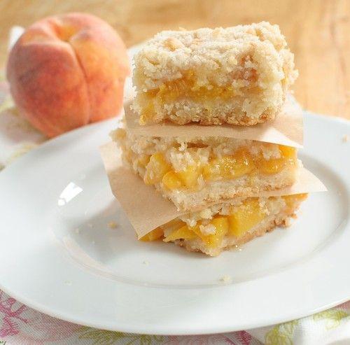 peach crumb bars | yummyness | Pinterest