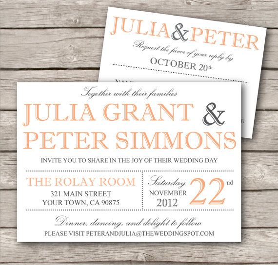 Modern Wedding Invitation Template - Printable DIY Wedding Invitation ...