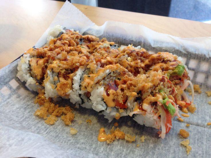 avocado crab roll with soy sauce caviar recipes dishmaps avocado crab ...