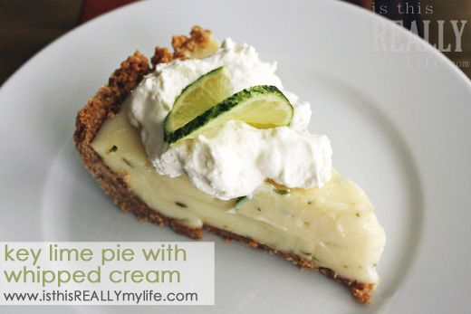 Key Lime Pie with Freshly Whipped Cream | Recipe