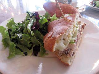 Searsucker Drunken Chicken Salad Sandwich, which came with brown ...
