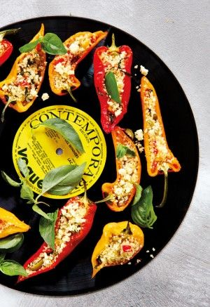 Stuffed Peppers with Couscous and Feta | Vegetarian Cooking and Bakin ...