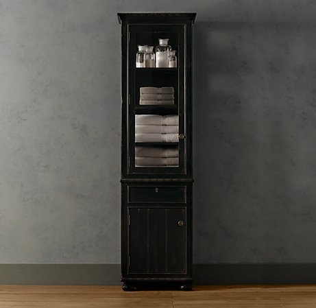 2 tall french empire cabinets master bathroom secondary for Restoration hardware bathroom cabinets