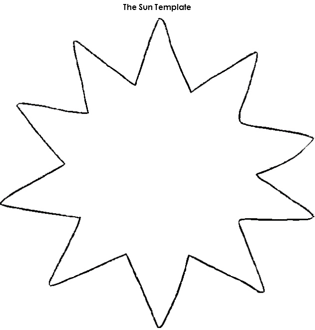 The Sun - Worksheet Template | suns | Pinterest