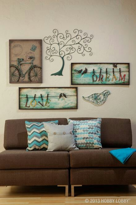 Metal wall decor from Hobby Lobby. Love! | Home