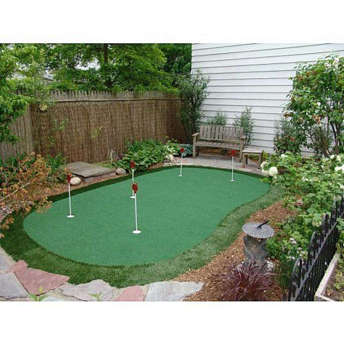 Artificial Grass Backyard Putting Greens : Putting Green 15X28 golf balls clubs practice backyard artificial turf