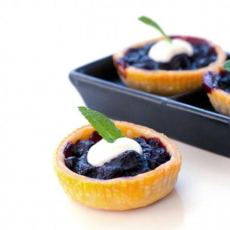 ... fresh blueberries 1/2 tablespoon Meyer lemon grated zest 2 tablespoons
