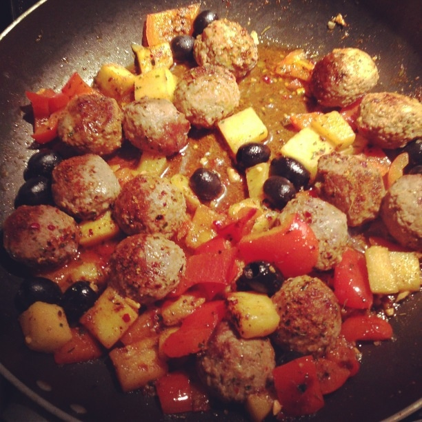 Spicy Lamb Meatballs...made with lamb mince, garlic, Moroccan spices ...