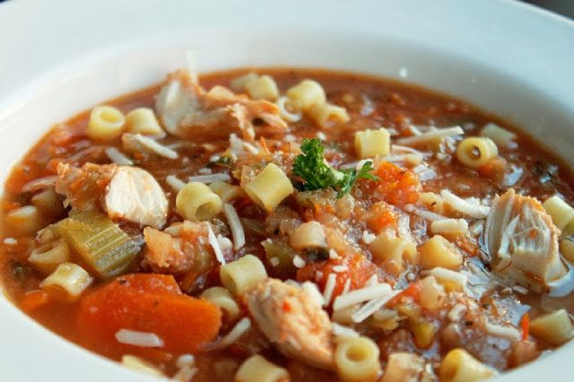 Spicy Italian Chicken Noodle Soup | Creole Contessa | Pinterest