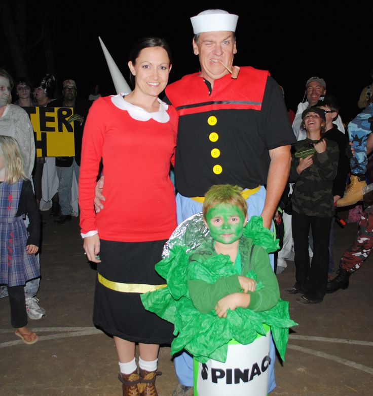 Popeye Family costume at costume contest during Halloween Weekends.