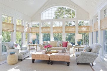 Comfortable sunroom furniture design pictures remodel for Window covering ideas for sunrooms