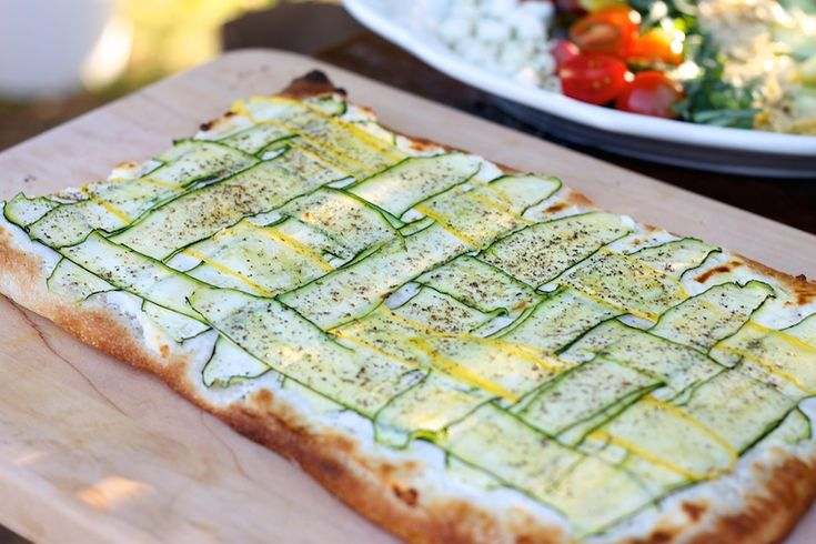 Lemony Zucchini Goat Cheese Pizza Recipes — Dishmaps