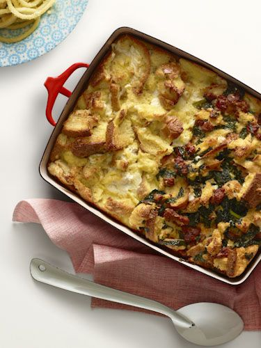 Strata with spicy sausage and kale | Recipes, etc. | Pinterest