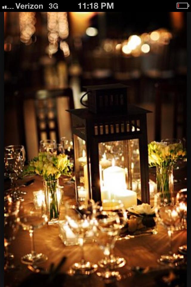 Lantern center pieces wedding bliss pinterest for Cheap table lanterns for weddings