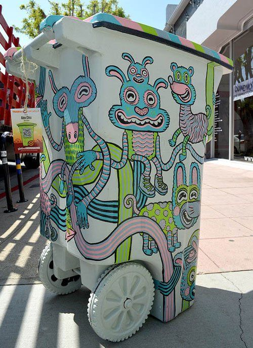 Creative trash cans art and design pinterest for Creative art from waste