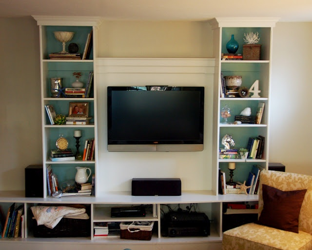 Creative Bookshelf Around Fireplace  Forever House  Pinterest