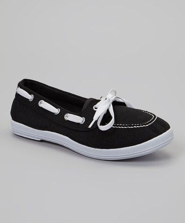 Loving this Black Boat Shoes on #zulily! #zulilyfinds8.99